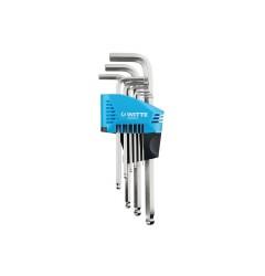 Набор ключей угловых шестигранных с шаровидным наконечником, , 1571 руб., 450313016, WITTE, Ключи угловые