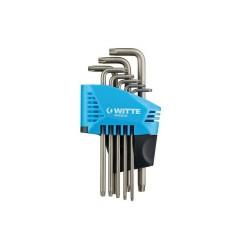 Набор ключей угловых TORX, , 2513 руб., 450323016, WITTE, Ключи угловые