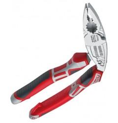 Пассатижи комбинированные, изогнутые ErgoCombi 200мм, хром (трехкомпонент.ручки) NWS 1096-49-200