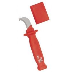Нож VDE с опорным башмачком для снятия изоляции (до 1000 Вольт) NWS 2043