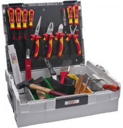 Набор с инструментом для электрика 23 поз., пластиковый чемодан NWS 327-23